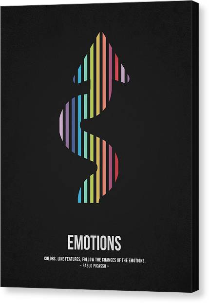 Pablo Picasso Canvas Print - Emotions by Aged Pixel