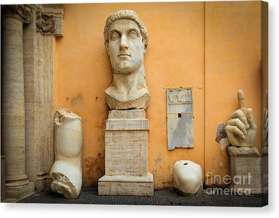 Rome Canvas Print - Emperor Constantine by Inge Johnsson