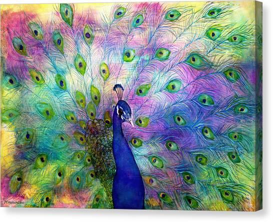 Emperor Peacock Canvas Print