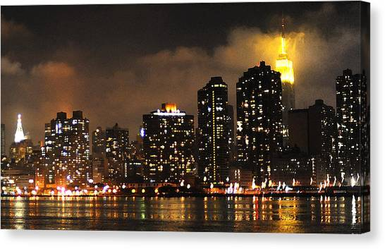 Empire State Building From Long Island City Canvas Print