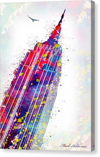 Famous Places Canvas Print - Empire State Building by Mark Ashkenazi
