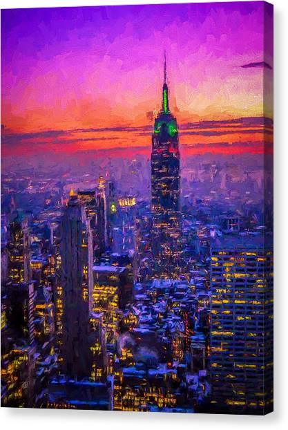 Empire State Building Canvas Print by Michael Petrizzo