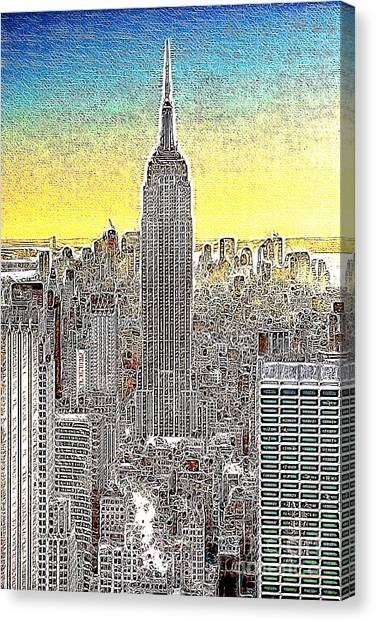 Empire State Building New York City 20130425 Canvas Print by Wingsdomain Art and Photography