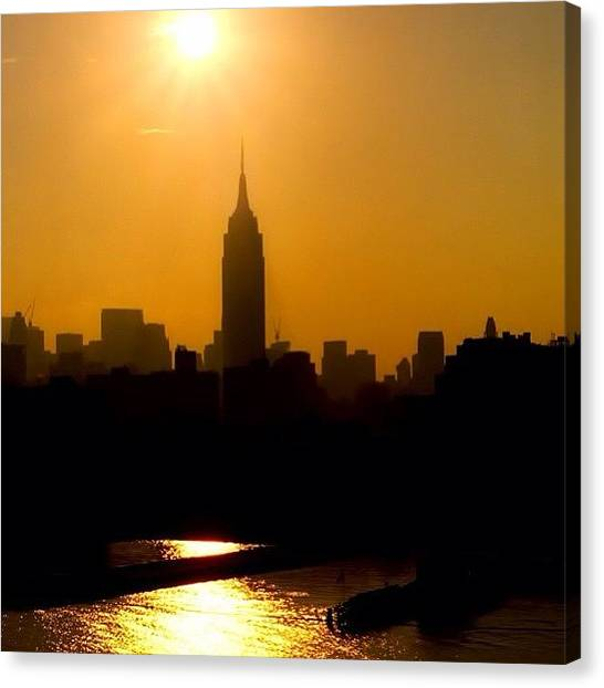 Skyline Canvas Print - Empire State Building... Nyc.  #nyc by Joann Vitali