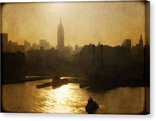 City Sunrises Canvas Print - Empire State Building Sunrise - Nyc by Joann Vitali