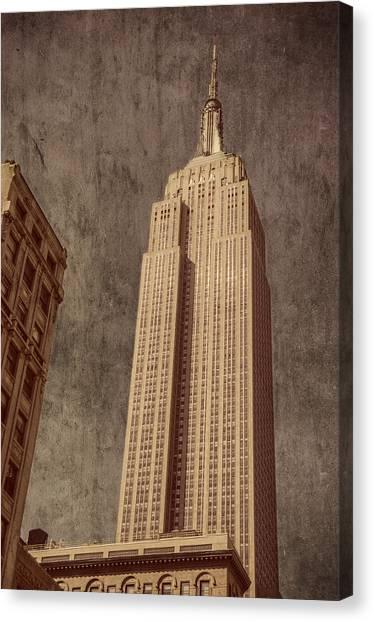 Empire State Building Vintage Canvas Print