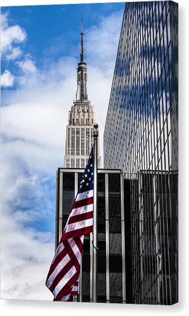 Empire State Canvas Print by Chris Halford