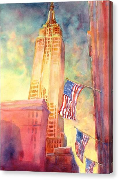 Empire State Building Canvas Print - Empire State by Virgil Carter