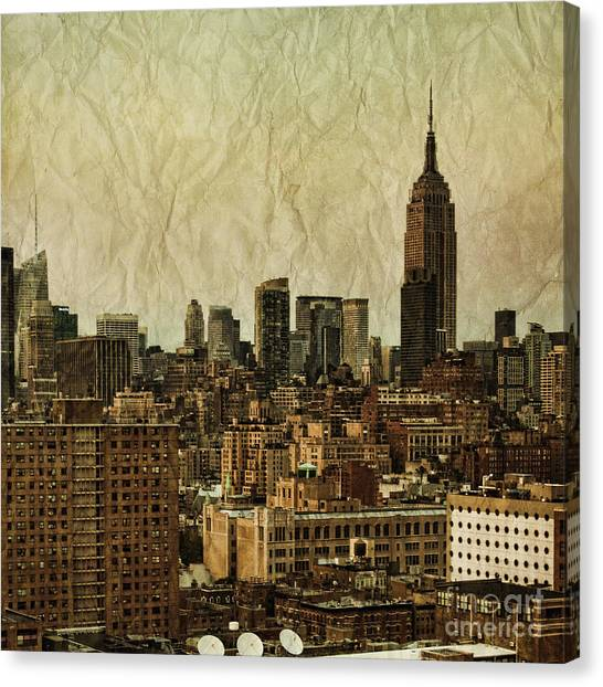 New York Skyline Canvas Print - Empire Stories by Andrew Paranavitana