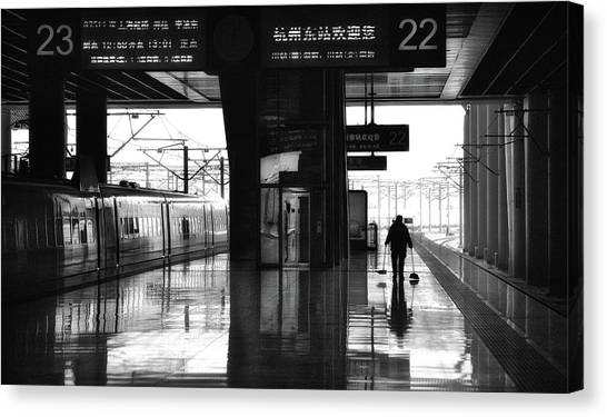 Railroads Canvas Print - Empty by Angela Muliani Hartojo
