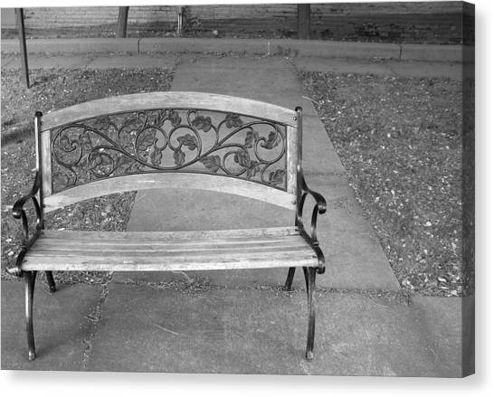 Empty Bench Canvas Print by Stephanie Grooms