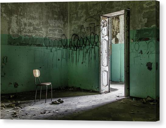 Chair Canvas Print - Empty Crazy Spaces by Marco Tagliarino