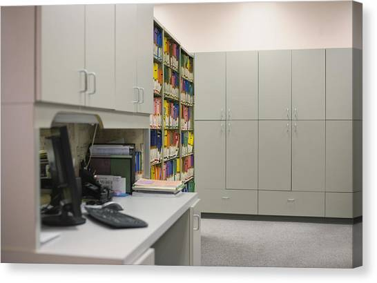 Empty Doctor?s Office Canvas Print by Jetta Productions/David Atkinson