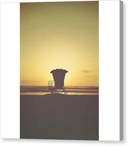 Lifeguard Canvas Print - Empty Lifeguard Tower by Alex Mortensen