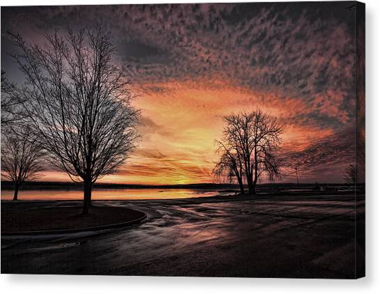 Empty Lot Sunset Canvas Print