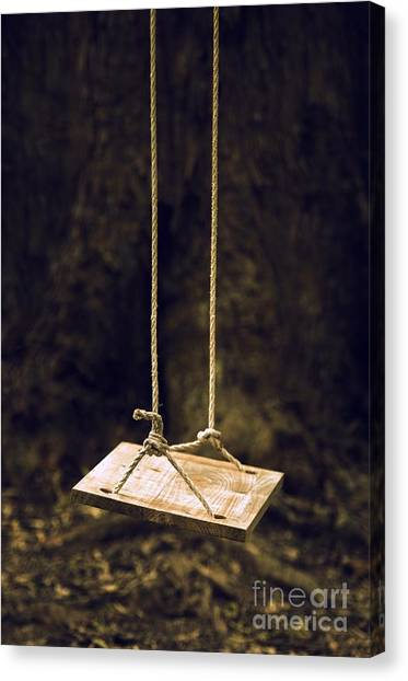 Missing Child Canvas Print - Empty Swing by Carlos Caetano
