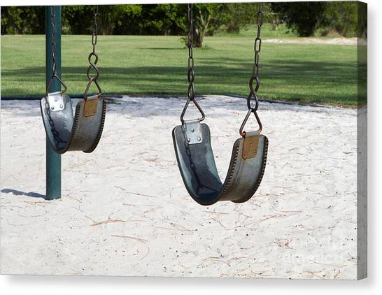 Empty Swings Canvas Print