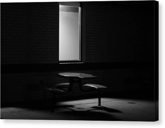 Empty Table Canvas Print