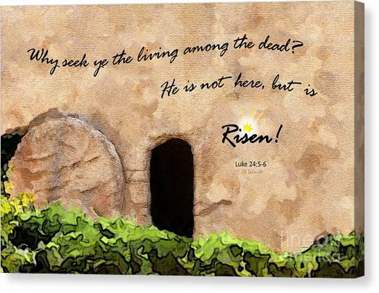 Empty Tomb - Luke 24 Canvas Print