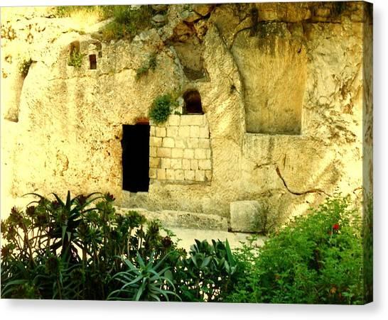 Empty Tomb Of Jesus Canvas Print