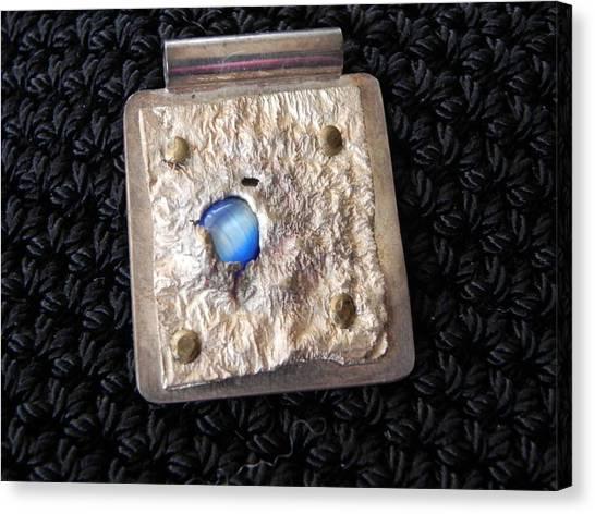 Encased Blue Stone Canvas Print