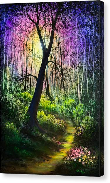 Bob Ross Canvas Print - Enchanted Forest by Chris Steele