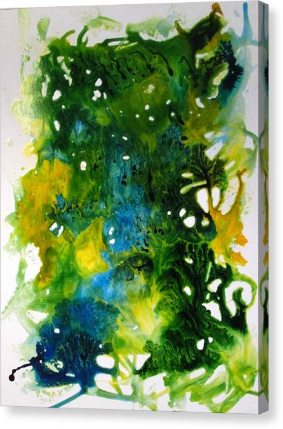 Enchanted Forest Canvas Print by Mary Kay Holladay