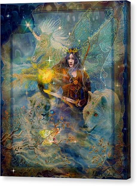 Angel Tarot Card Enchanted Princess Canvas Print