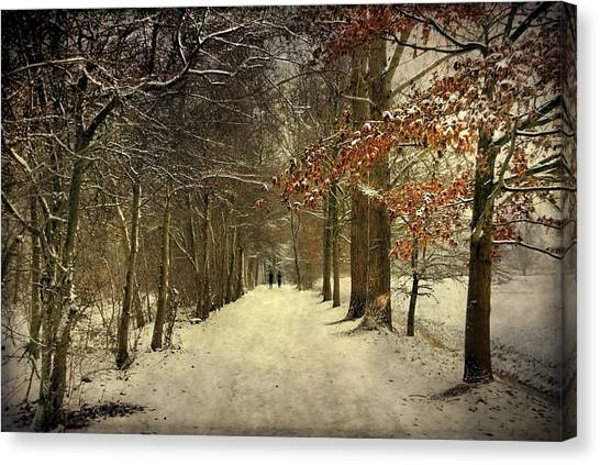 Enchanting Dutch Winter Landscape Canvas Print