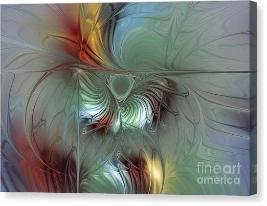 Lyrical Abstraction Canvas Print - Enchanting Flower Bloom-abstract Fractal Art by Karin Kuhlmann