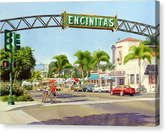Aliens Canvas Print - Encinitas California by Mary Helmreich