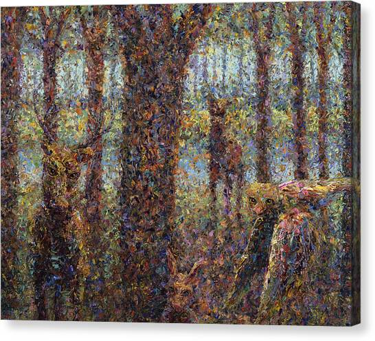 Chaos Canvas Print - Encounter by James W Johnson