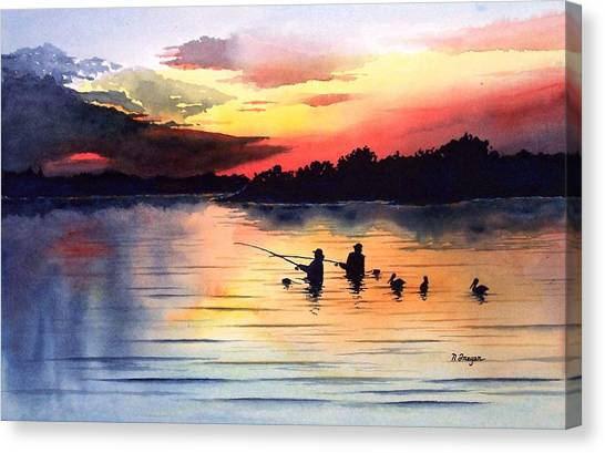 End Of A Perfect Day Canvas Print