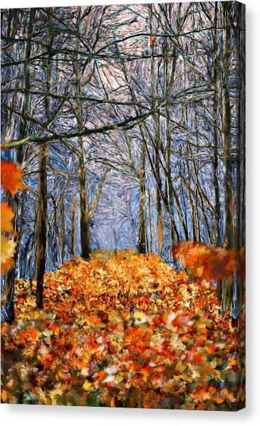 End Of Autumn Canvas Print