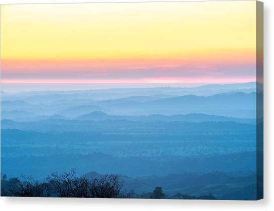 End Of Day Figueroa Mountain Canvas Print