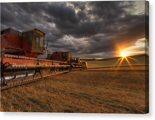 Inland Canvas Print - End Of Day by Mark Kiver