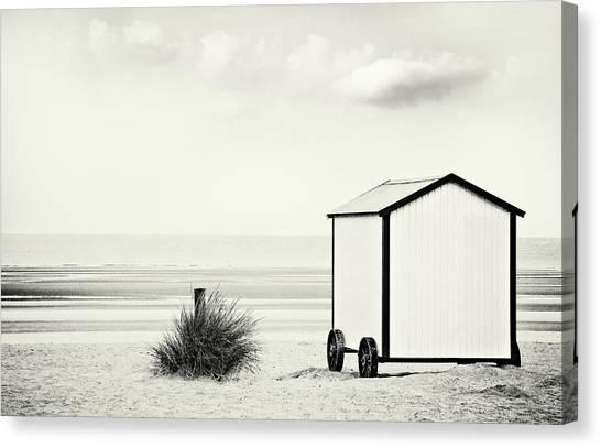 Beach Cabin Canvas Print - End Of Season by Gilbert Claes