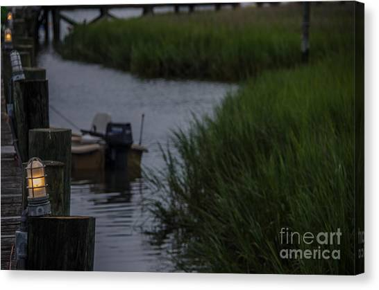 John Boats Canvas Print - End Of The Day by Dale Powell