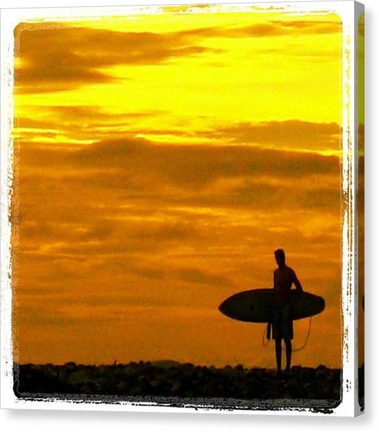 Surfing Canvas Print - End Of The Day. Mainland Mexico by Matt Proehl