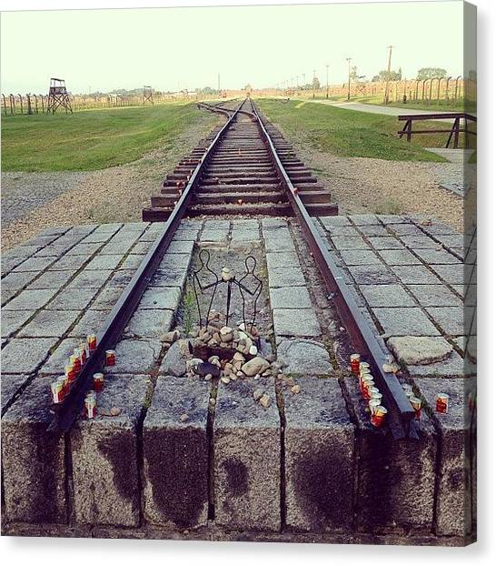 Horror Canvas Print - End Of The Death Road. Birkenau by Elena Tchoujtchenko