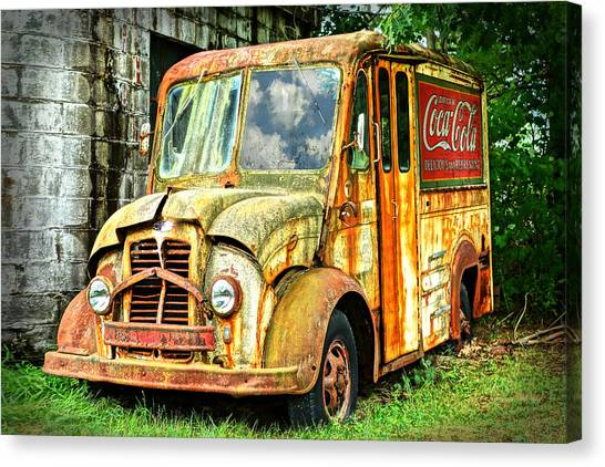 Rusty Truck Canvas Print - End Of The Road by Cornelia Trahan