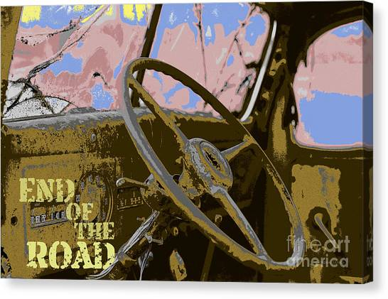 Turn Signals Canvas Print - End Of The Road by Gordon Wood