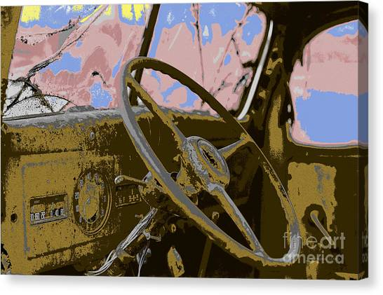 Turn Signals Canvas Print - End Of The Road Without Title by Gordon Wood