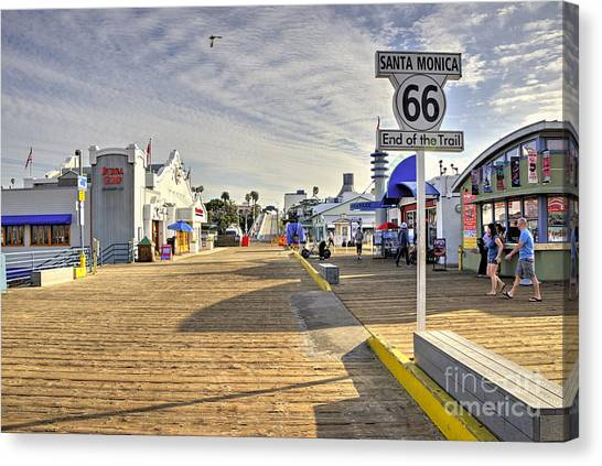 Santa Monica Pier Canvas Print - End Of The Trail  by Rob Hawkins