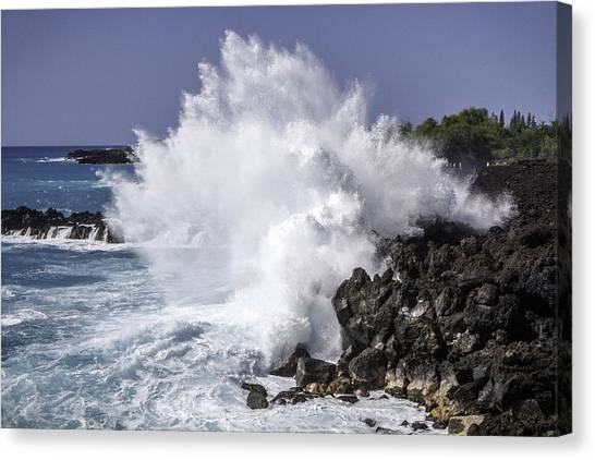 Canvas Print featuring the photograph End Of The World Explosion by Denise Bird