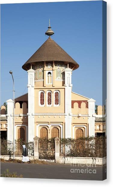 enda Mariam cathedral in asmara eritrea Canvas Print