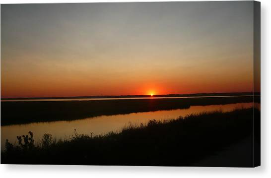 Ending Of A Day Canvas Print