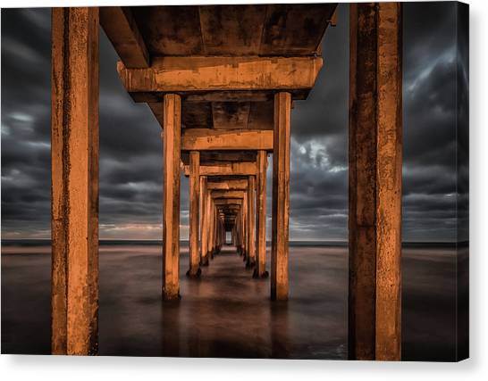 Pier Canvas Print - Endless by Andreas Agazzi