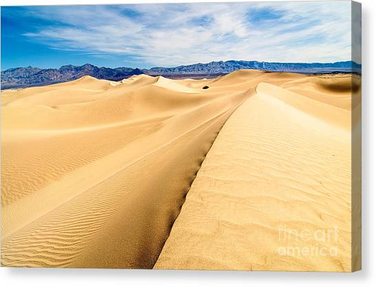 Dunes Canvas Print - Endless Dunes - Panoramic View Of Sand Dunes In Death Valley National Park by Jamie Pham