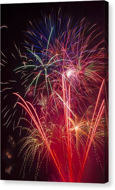 Pyrotechnics Canvas Print - Endless Fireworks by Garry Gay